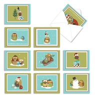 AM2989XS - Holiday Hoots: Mini Assorted Set of Cards