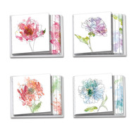 Basic Blooms, Assorted Set Of Mini Square-Top Blank Note Cards - AMQ4627OCB