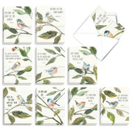 Scripture Birds, Assorted Set Of Mini Blank Note Cards - AM7108OCB
