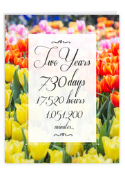 2 Year Time Count, Jumbo Milestone Anniversary Note Card - J9085MAG-US