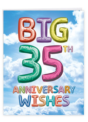Inflated Messages - 35, Jumbo Milestone Anniversary Note Card - J9432MAG-US