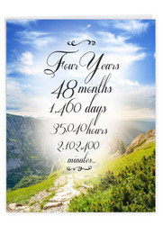4 Year Time Count, Jumbo Recovery Note Card - J9434AAG-US
