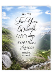5 Year Time Count, Jumbo Recovery Note Card - J9435AAG-US