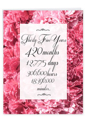 35 Year Time Count, Extra Large Milestone Anniversary Greeting Card - J9438MAG-US