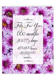 55 Year Time Count, Extra Large Milestone Anniversary Greeting Card - J9452MAG-US