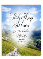 30 Day Time Count, Jumbo Recovery Note Card - J9453AAG-US