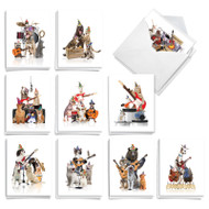Animal Bands, Assorted Set Of Mini Birthday Note Cards - AM9508BDG
