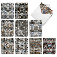 Tattered Tiles, Assorted Set Of Mini Thank You Greeting Cards - AM9519TYG