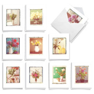 Foto Florals, Assorted Set Of Mini Sympathy Thank You Note Cards - AM9540STG