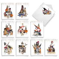 Party Animal Bands, Assorted Set Of Mini New Year Note Cards - AM9541NYG