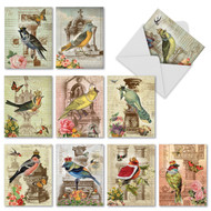 Royal Birds, Assorted Set Of Mini Thank You Greeting Cards - AM2343TYG