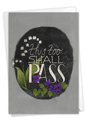 Favorite Phrases - This Too Shall Pass, Printed Friendship Greeting Card - C9281AFRG