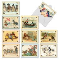 Sweet Tweets, Assorted Set Of Mini Thank You Note Cards - AM2344TYG