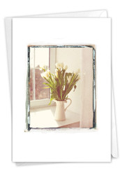 Foto Florals - Pitcher, Printed Sympathy Note Card - C9540BSMG