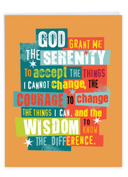 Serenity Sobriety Prayer, Jumbo Recovery Note Card - J3688AAG