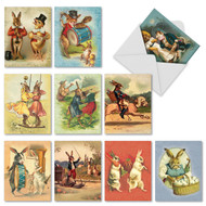 Note Cards with Whimsical Vintage Bunnies