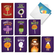 Trick or Treat Puns, Assorted Set Of Mini Halloween Greeting Cards - AM8851HWG