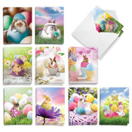 Hatching Rabbits, Assorted Set Of Mini Easter Note Cards - AM8993EAG