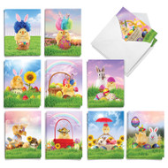 Chicks In A Basket, Assorted Set Of Mini Easter Greeting Cards - AM9077EAG
