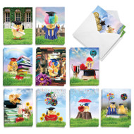 Smart Chicks, Assorted Set Of Mini Graduation Note Cards - AM9077GDG