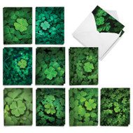 Lucky Clovers, Assorted Set Of Mini St. Patrick's Day Greeting Cards - AM9079SPG