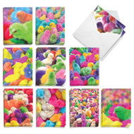 Colorful Chicks, Assorted Set Of Mini Easter Greeting Cards - AM9158EAG