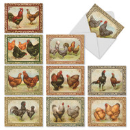 Card-A-Doodle-Do, Assorted Set Of Mini Thank You Greeting Cards - AM2351TYG