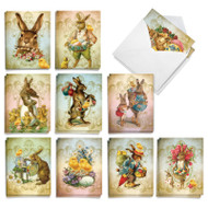 Vintage Chicks and Bunnies, Assorted Set Of Mini Easter Greeting Cards - AM9164EAG