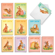 Watercolor Bunnies, Assorted Set Of Mini Easter Greeting Cards - AM9166EAG