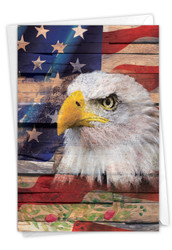 Artful Flags, Printed Independence Day Greeting Card - C6580DIDG