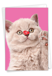 Heart Cats, Printed Valentine's Day Greeting Card - C9266AVDG