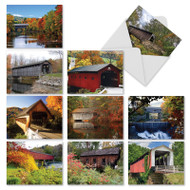 Covered Bridges, Assorted Set Of Mini Blank Note Cards - AM2374OCB