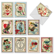 All Decked Out, Assorted Set Of Mini Blank Greeting Cards - AM2381OCB