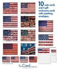 Flag prints on bricks paint a uniquely patriotic picture.