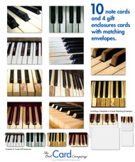 These note cards tickle the ivories