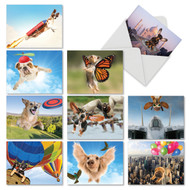 The Flying K9, Assorted Set Of Mini Thank You Note Cards - AM6448TYG