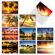 Palm Beaches, Assorted Set Of Mini Thank You Greeting Cards - AM6457TYG