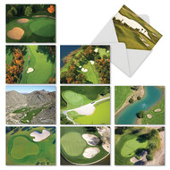 M6458TY - Golf Cards: Assorted Set of 10 Cards