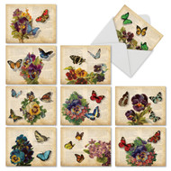 Fluttering Words, Assorted Set Of Mini Thank You Note Cards - AM6477TYG
