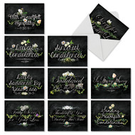 Chalk And Roses, Assorted Set Of Mini Blank Greeting Cards - AM6478SRB
