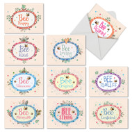 Let It Bee, Assorted Set Of Mini Blank Greeting Cards - AM6548OCB