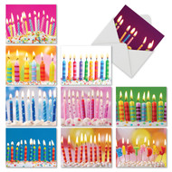 Birthday Candles, Assorted Set Of Mini Blank Note Cards - AM6555BDB