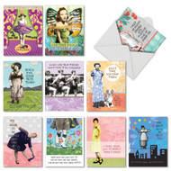 Note Cards with Vintage Witty Gals