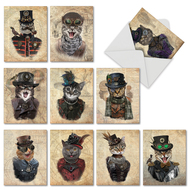 M6554TY - Steampunk Cats: Assorted Set