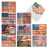 Artful Flags, Assorted Set Of Mini Thank You Note Cards - AM6580TYG