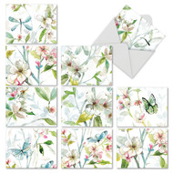 Dogwood Days, Assorted Set Of Mini Thank You Greeting Cards - AM6592TYG