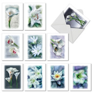 Blooming Memories, Assorted Set Of Mini Sympathy Greeting Cards - AM6598SMG