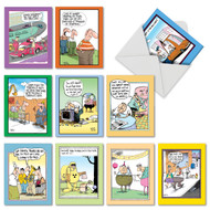 McCoy Bros. Cutups, Assorted Set Of Mini Birthday Greeting Cards - AM6617BDG