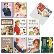 Hot Mess, Assorted Set Of Mini Birthday Greeting Cards - AM6622BDG