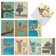 M6630OC - Life's A Hoot: Assorted Set of 10 Cards